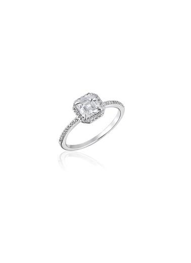Tophills Diamond Co. 1,4Ct Pırlanta Efekt Mıla Altın Yüzük Renkli